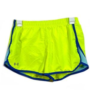 Under Armour Neon Lined Athletic Running Shorts
